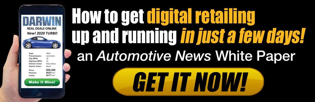 How to get digital retailing up and running in just a few days | Darwin Automotive digital retailing